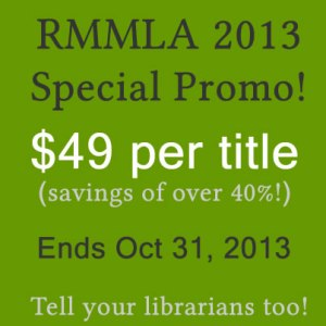 Cambria Press academic publisher RMMLA