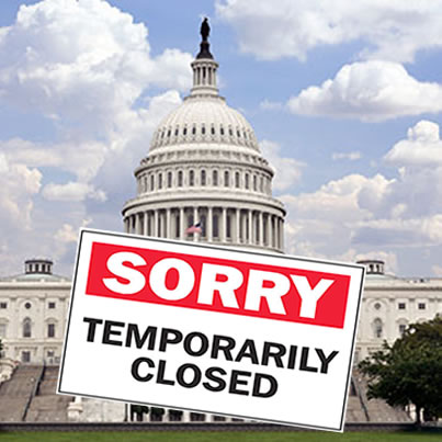 Image result for congress shut down