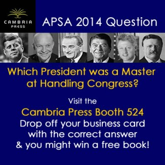 #APSA2014 Cambria Press academic publisher