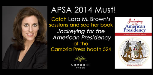 #APSA2014 Lara Brown Cambria Press academic publisher President