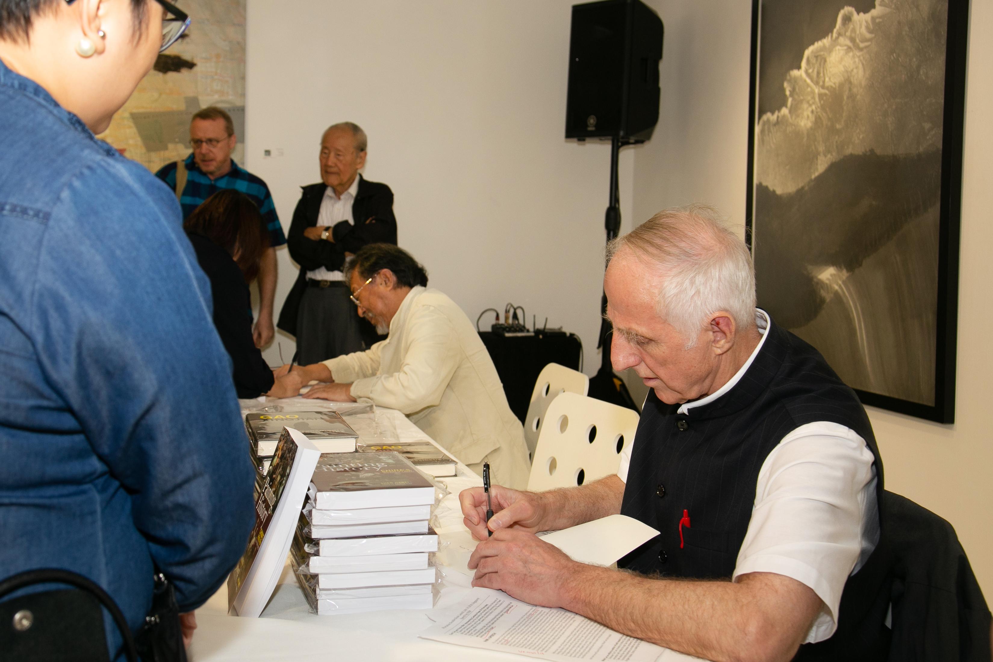 Cambria Press iPreciation book signing Victor Mair Shen Jiawei